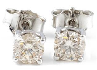 Orecchini punto luce diamanti