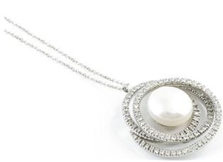Ciondolo con perla e diamanti BIBIGI'